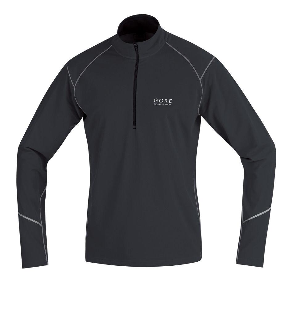 Gore Essential Thermo Zip Shirt in Schwarz
