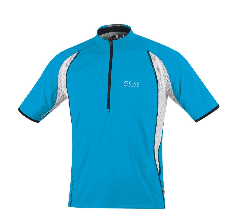 Gore AIR ZIP Shirt in Pool Blue/Black/White