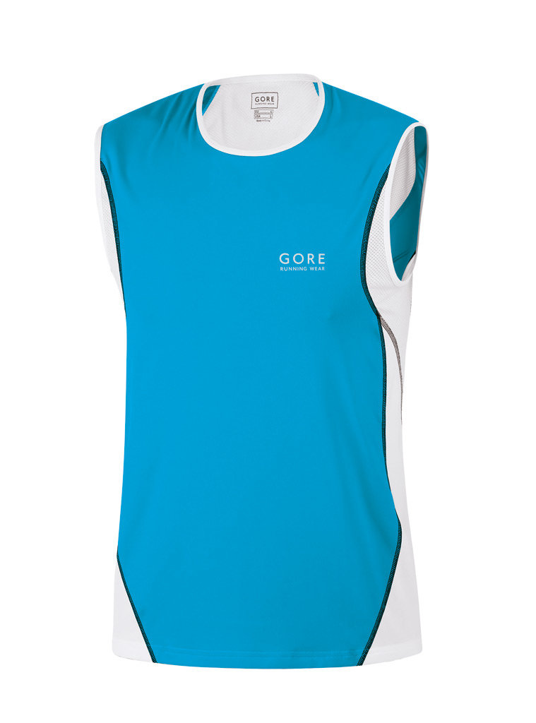 Gore AIR TANK Top in Pool Blue/White