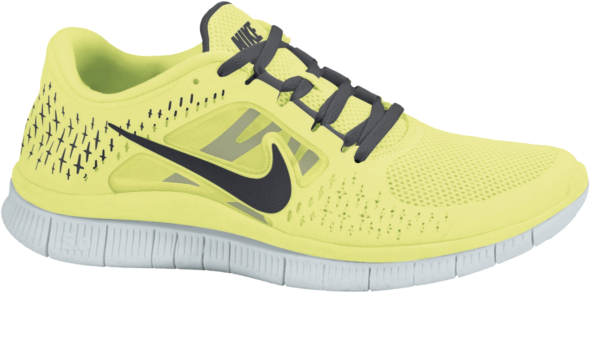 Nike Free Run 3 in Gelb