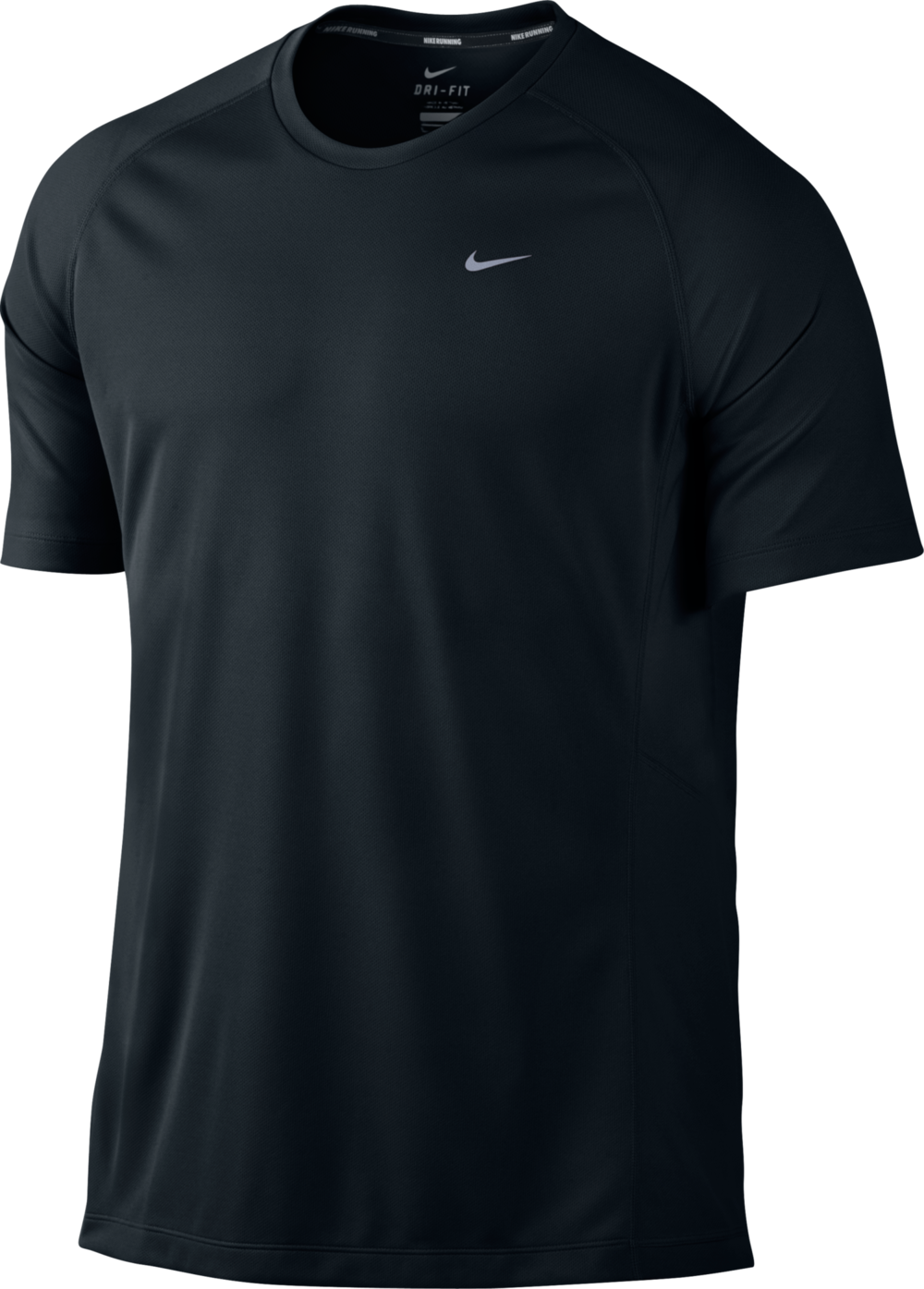 Nike Miler UV Shirt in Schwarz