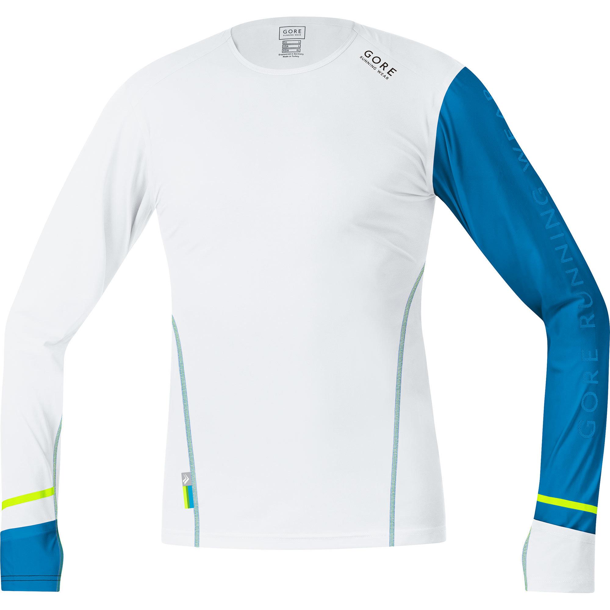 Gore X Run Ultra Long Shirt in Blau Weiss