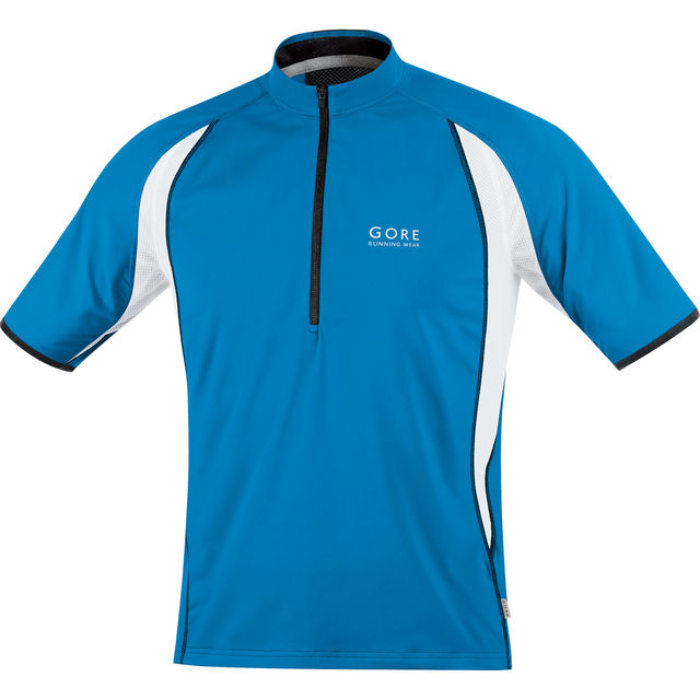 Gore Air Zip Shirt in Blau, Weiß