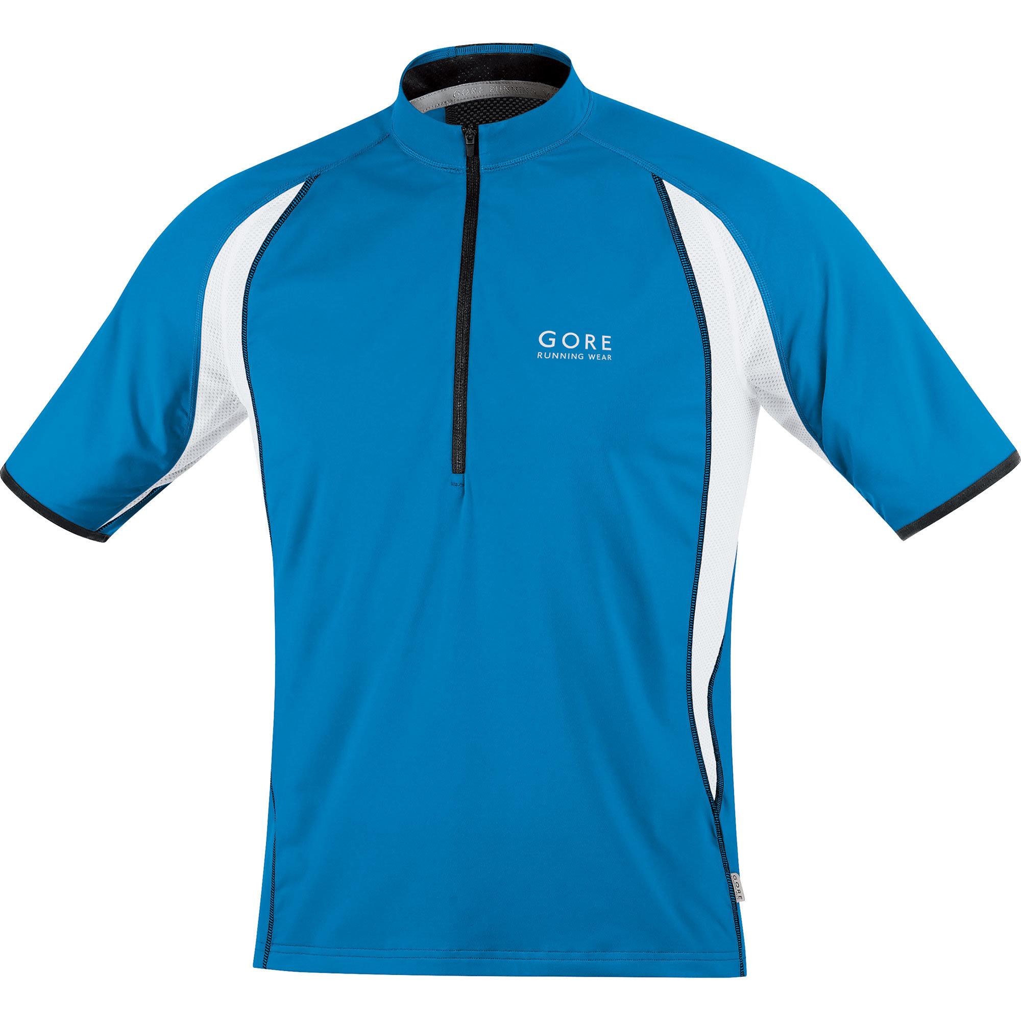 Gore Air Zip Shirt in Blau, Weiß
