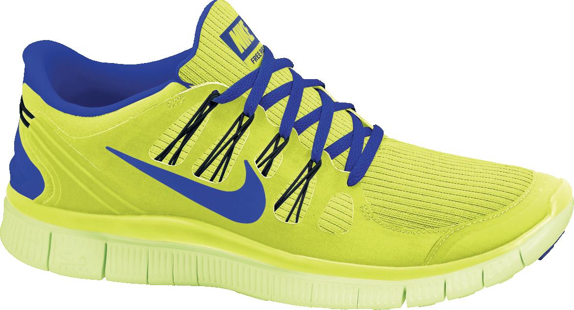 Nike Free 5.0 in Gelb Blau