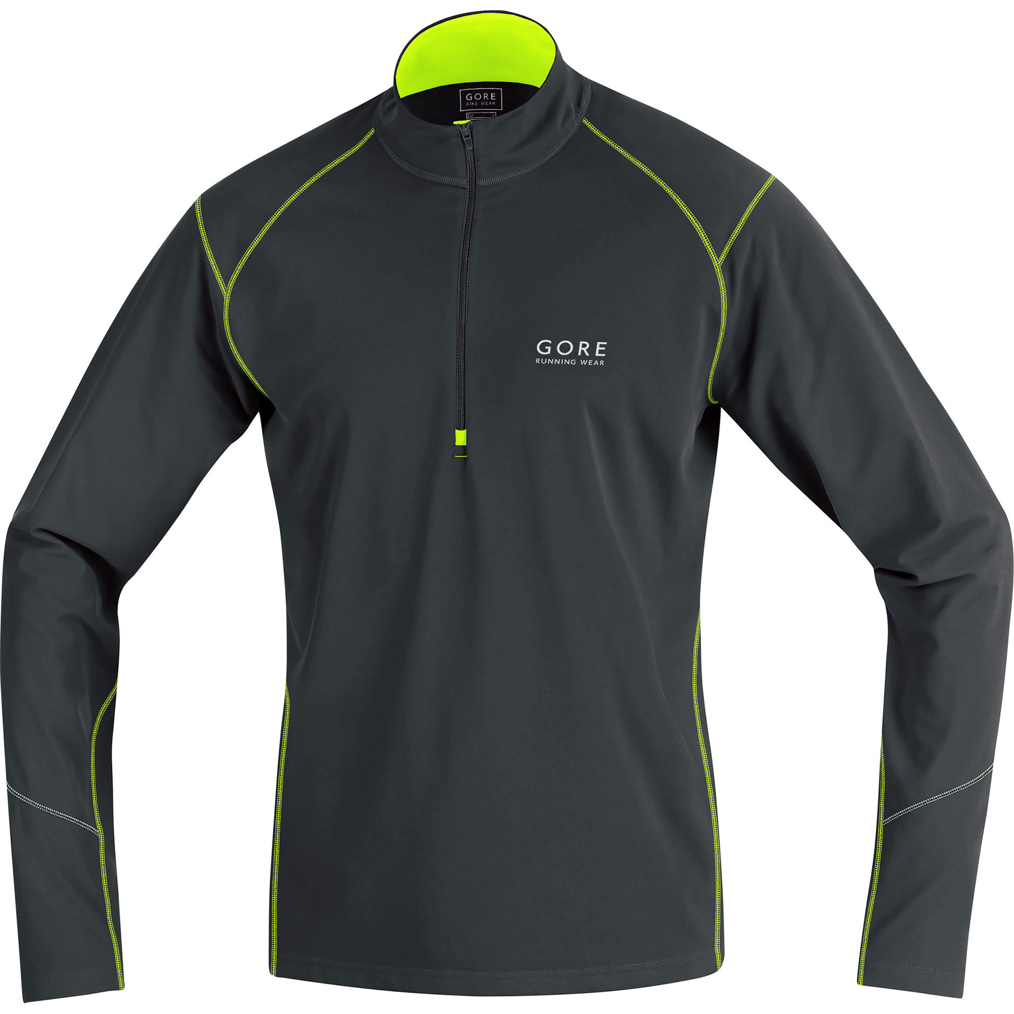 Gore Essential Thermo Zip Shirt in Schwarz Gelb