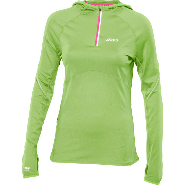 Asics Lady LS 1/2 Zip Hoody in Grün