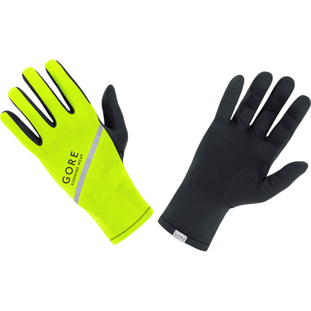 Gore Essential Light Gloves in Neon Gelb Schwarz