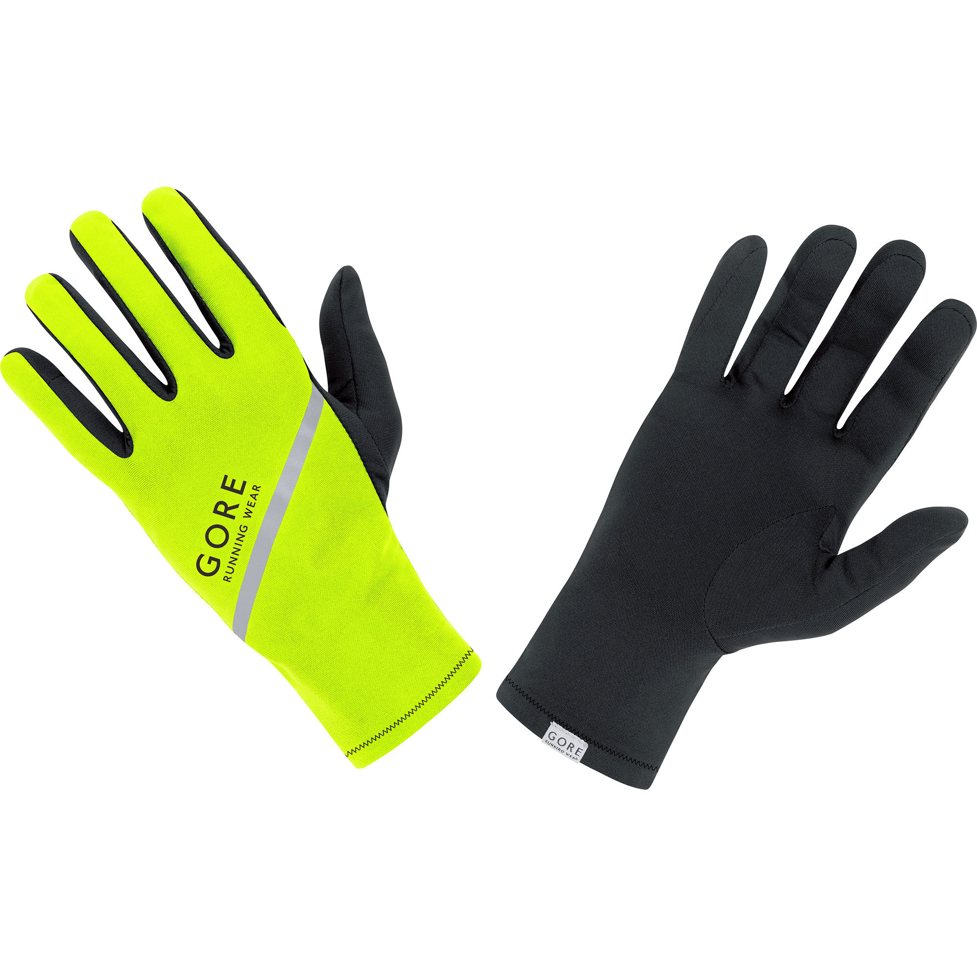 Gore Essential Light Gloves in Neon Schwarz