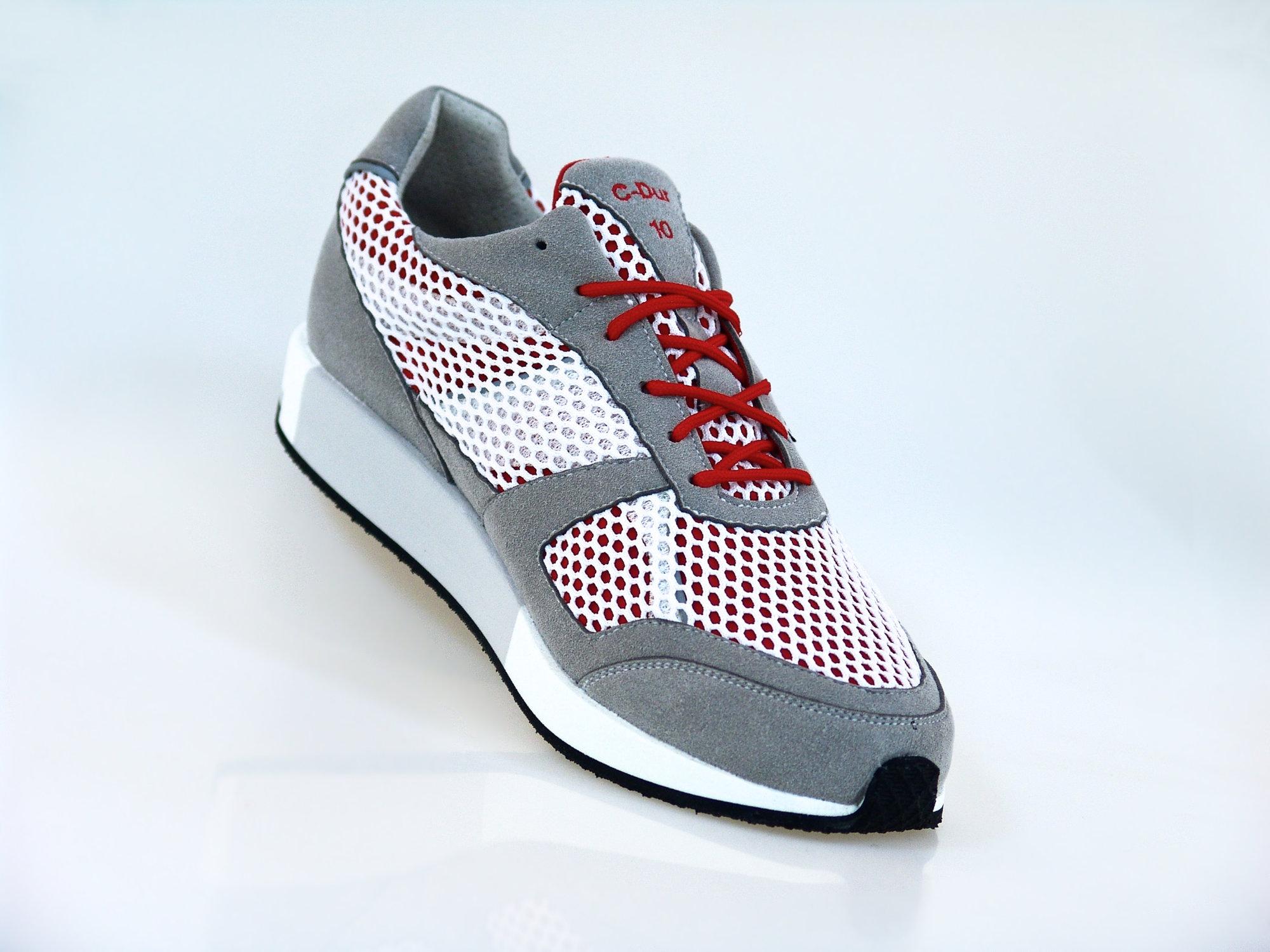 Lunge Damen Classic Run in Silber Weiß Rot