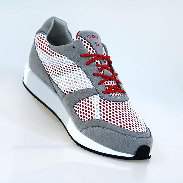 Lunge Classic Run in Silber Weiß Rot