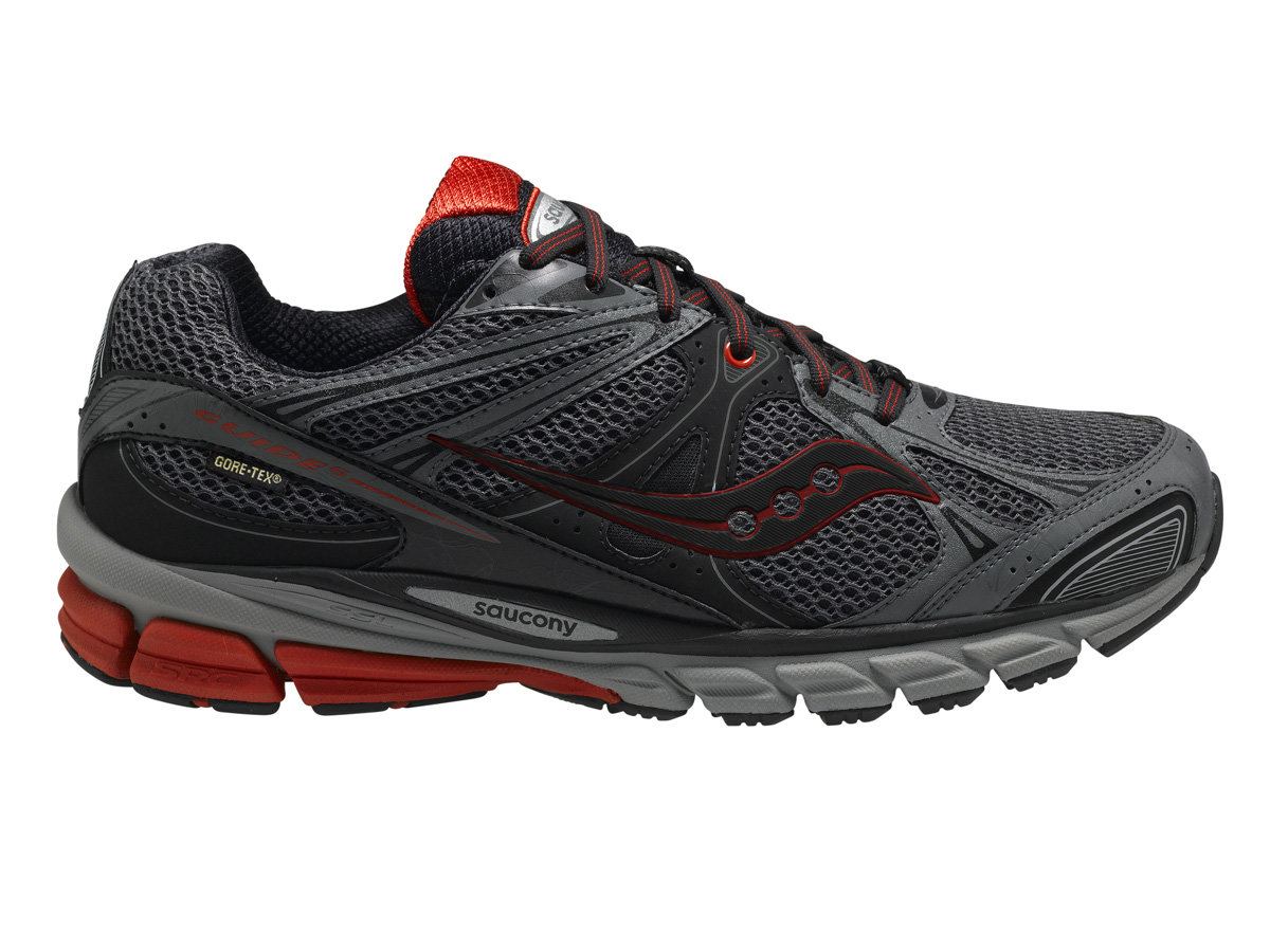 Saucony ProGrid Guide GTX in Schwarz Rot