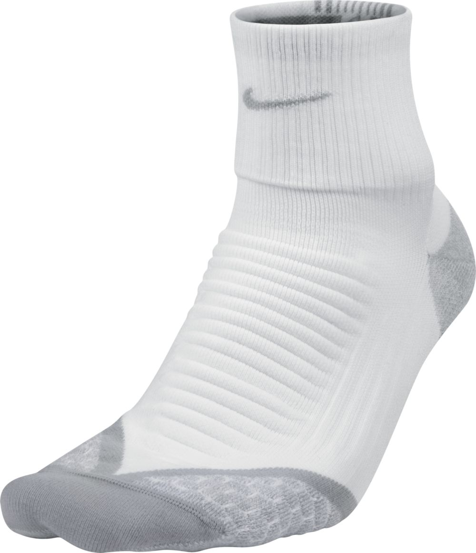 Nike Elitrunning Cushion Quarter in Weiß