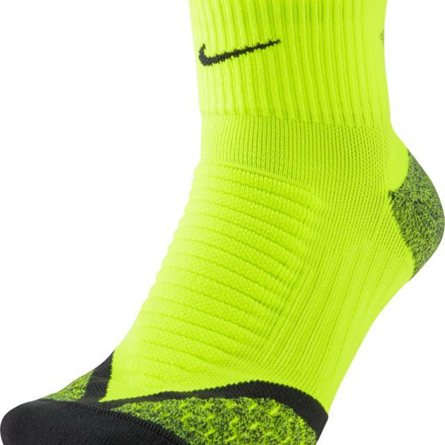 Nike Elitrunning Cushion Quarter in Neon Gelb