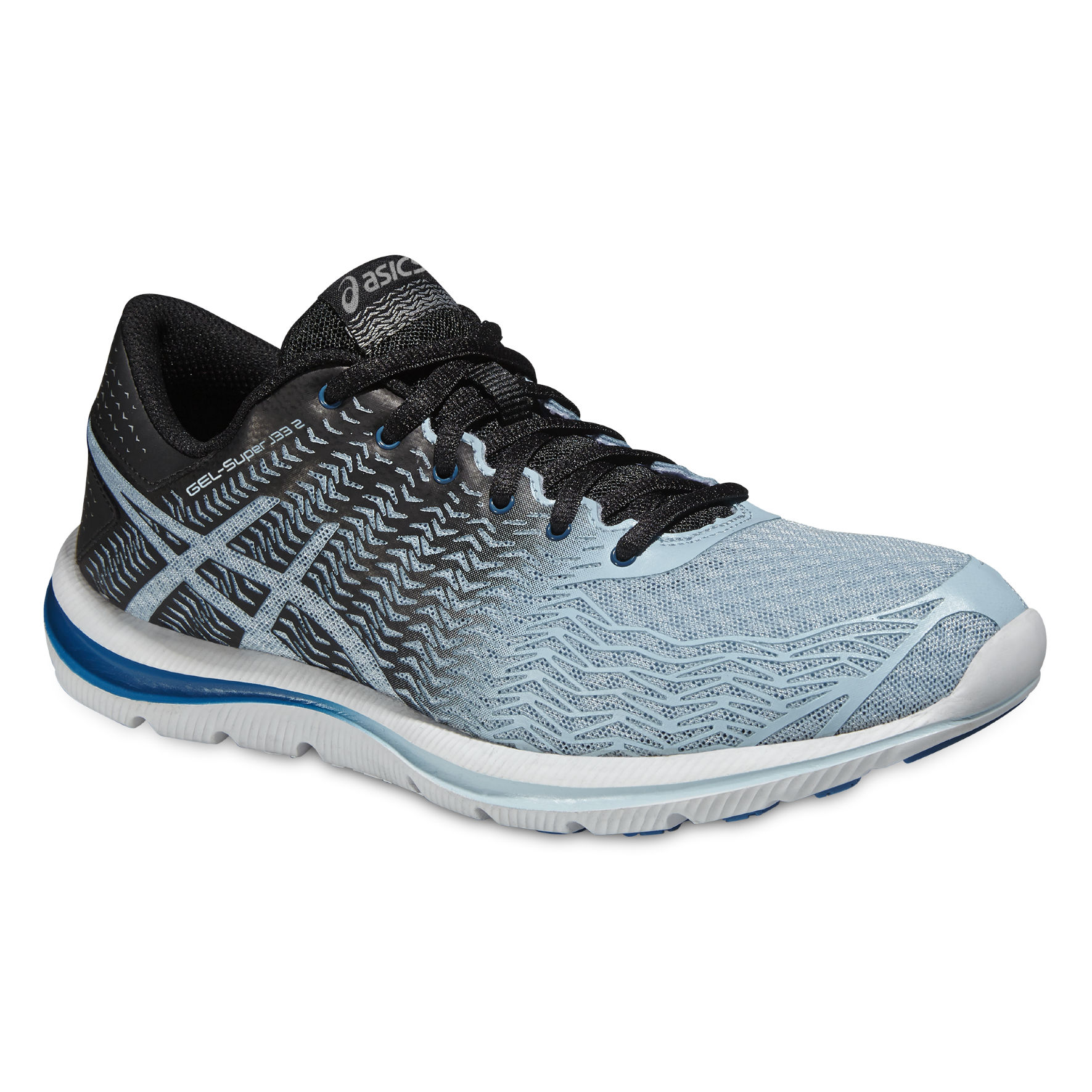 Asics Lady Gel Super J33 2 in Hellblau Schwarz