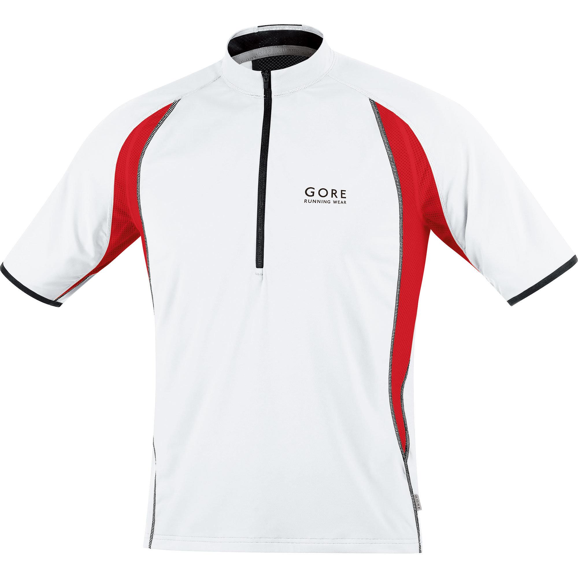 Gore Air Zip Shirt in Weiß/Rot