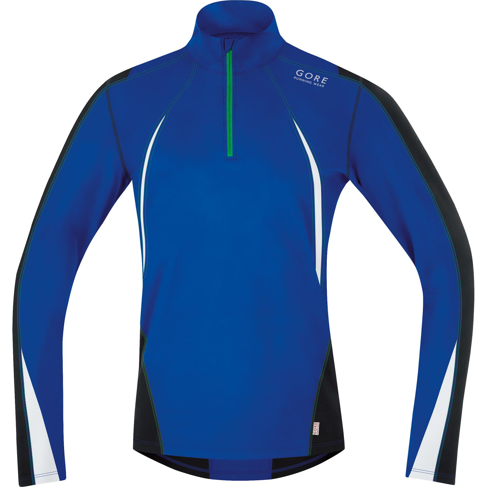 Gore Air Thermo Zip Shirt in Blau,  Weiß