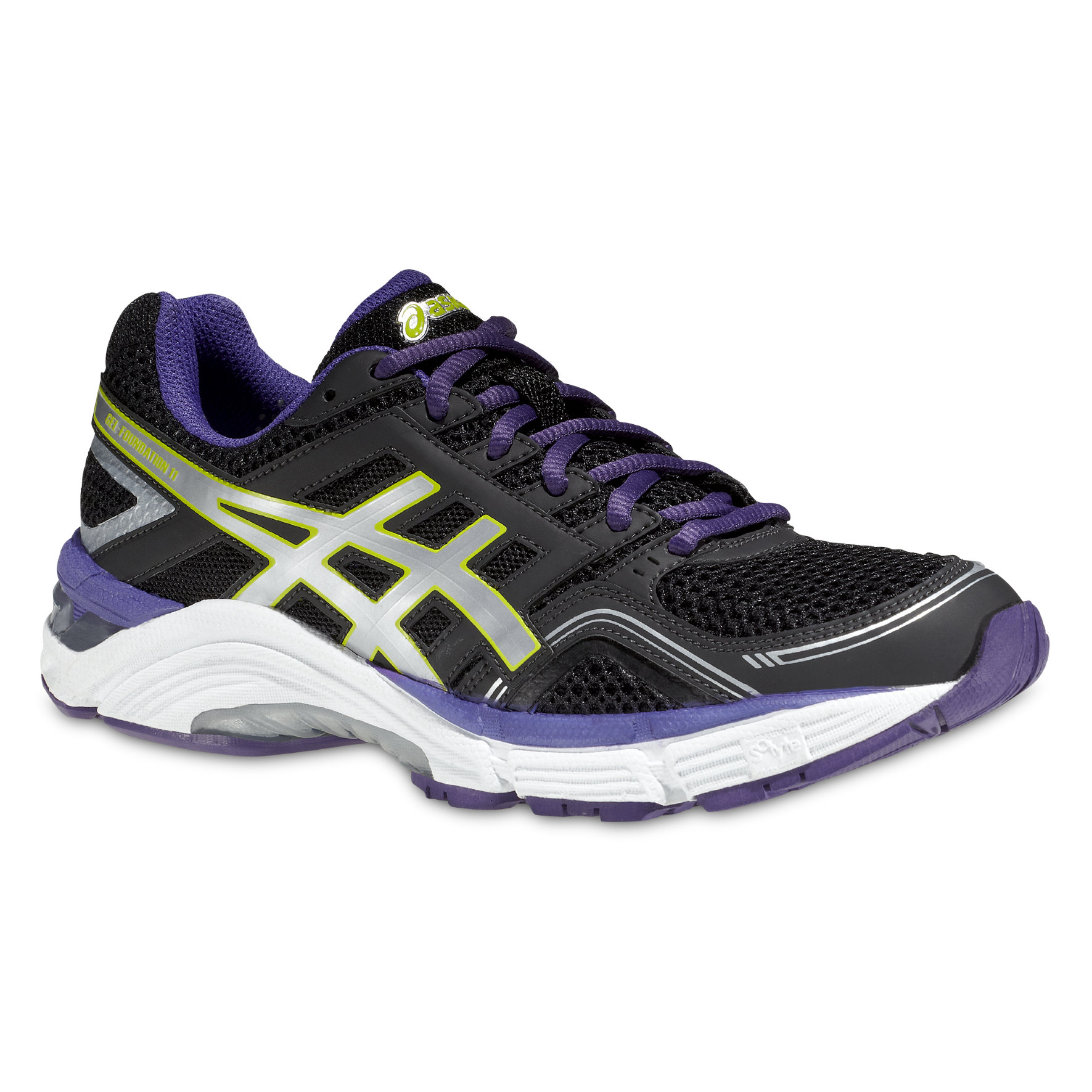 Asics Lady Gel Foundation 11 in Schwarz, Violet