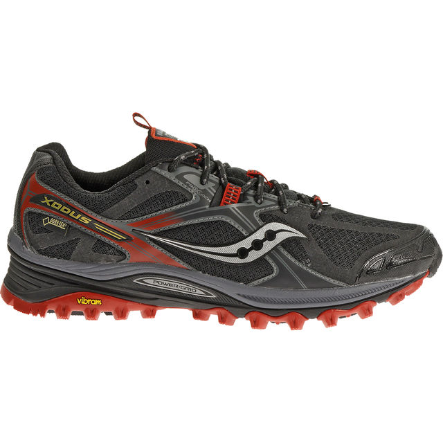 Saucony Xodus 5.0 GTX in Black/Red