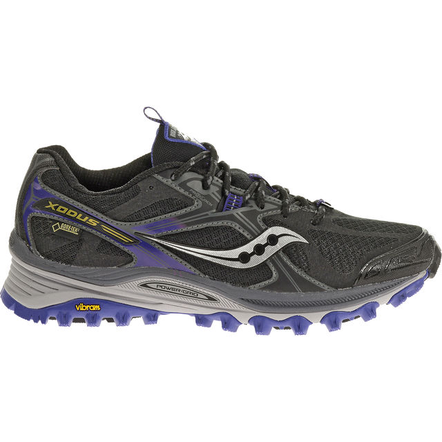 Saucony Lady Xodus 5.0 GTX in Black/Purple