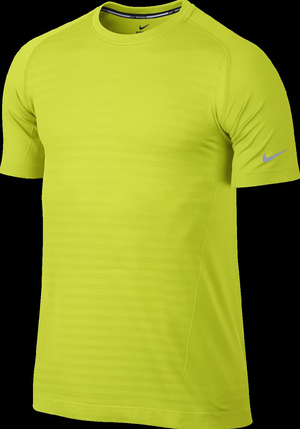 Nike DF Knit Novelty Crew in Gelb