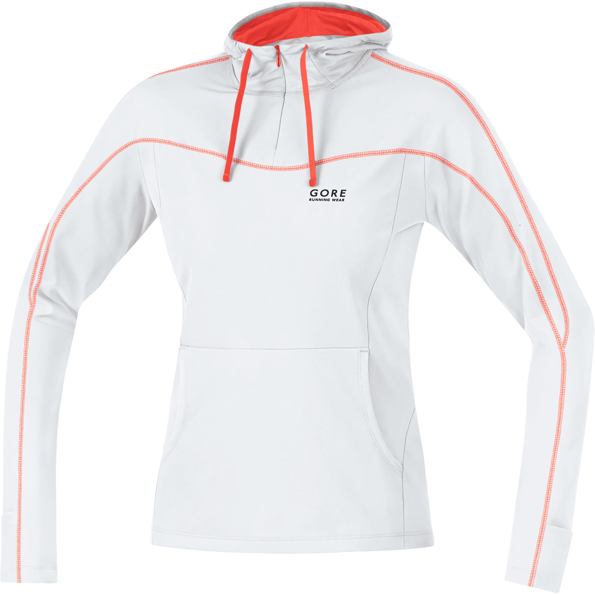 Gore Essential Lady Hoody in Weiß Rot