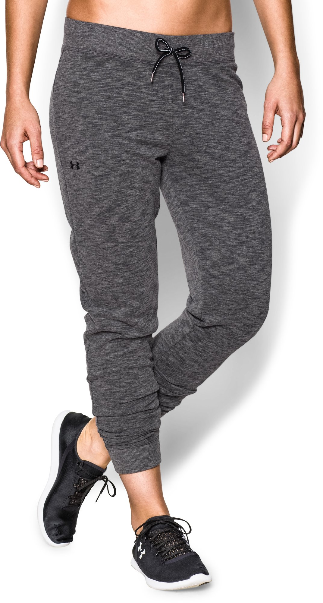 Under Armour Lady Kaleidalogo Solid Pant in Dunkelgrau