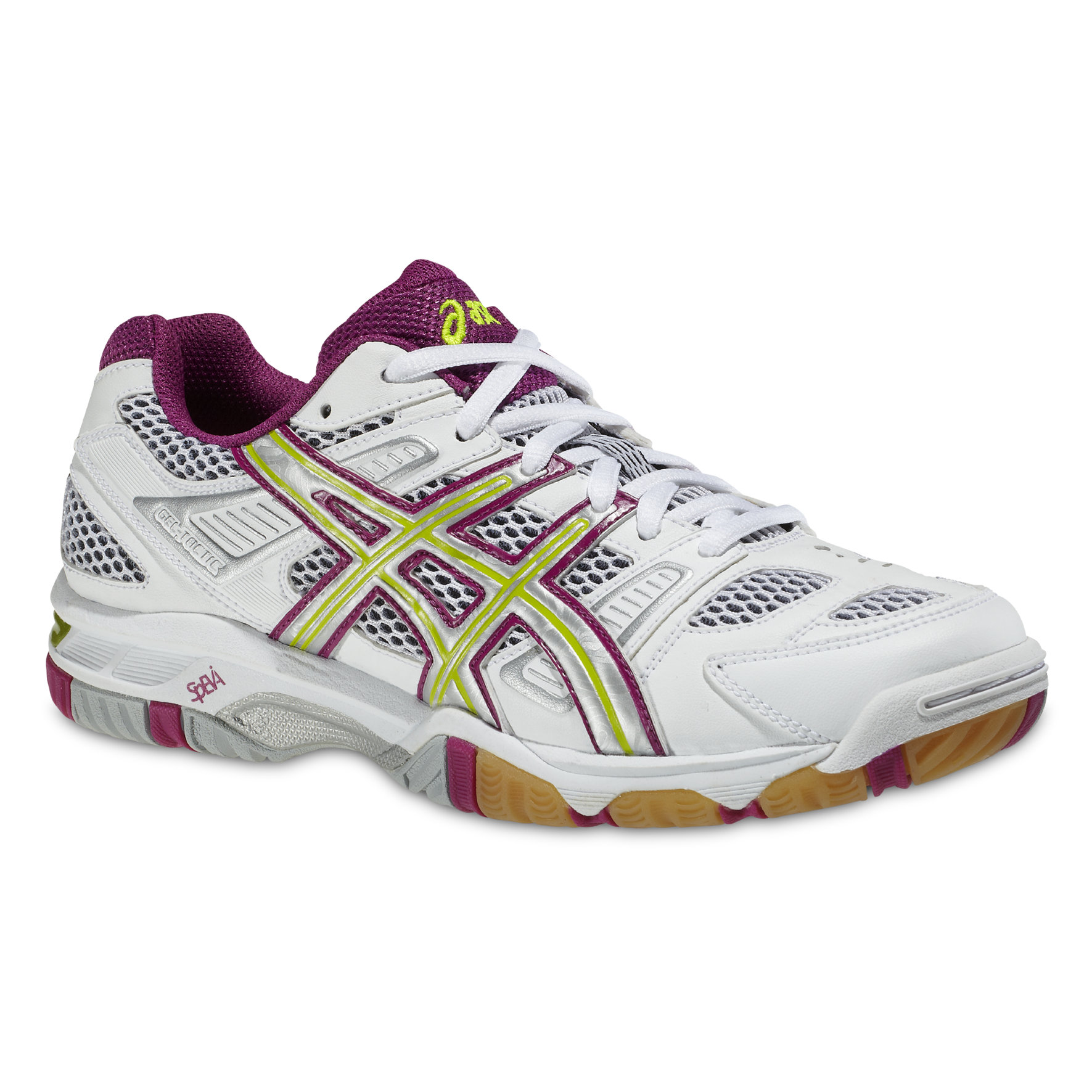 Asics Lady Gel Tactic in Weiß Lila