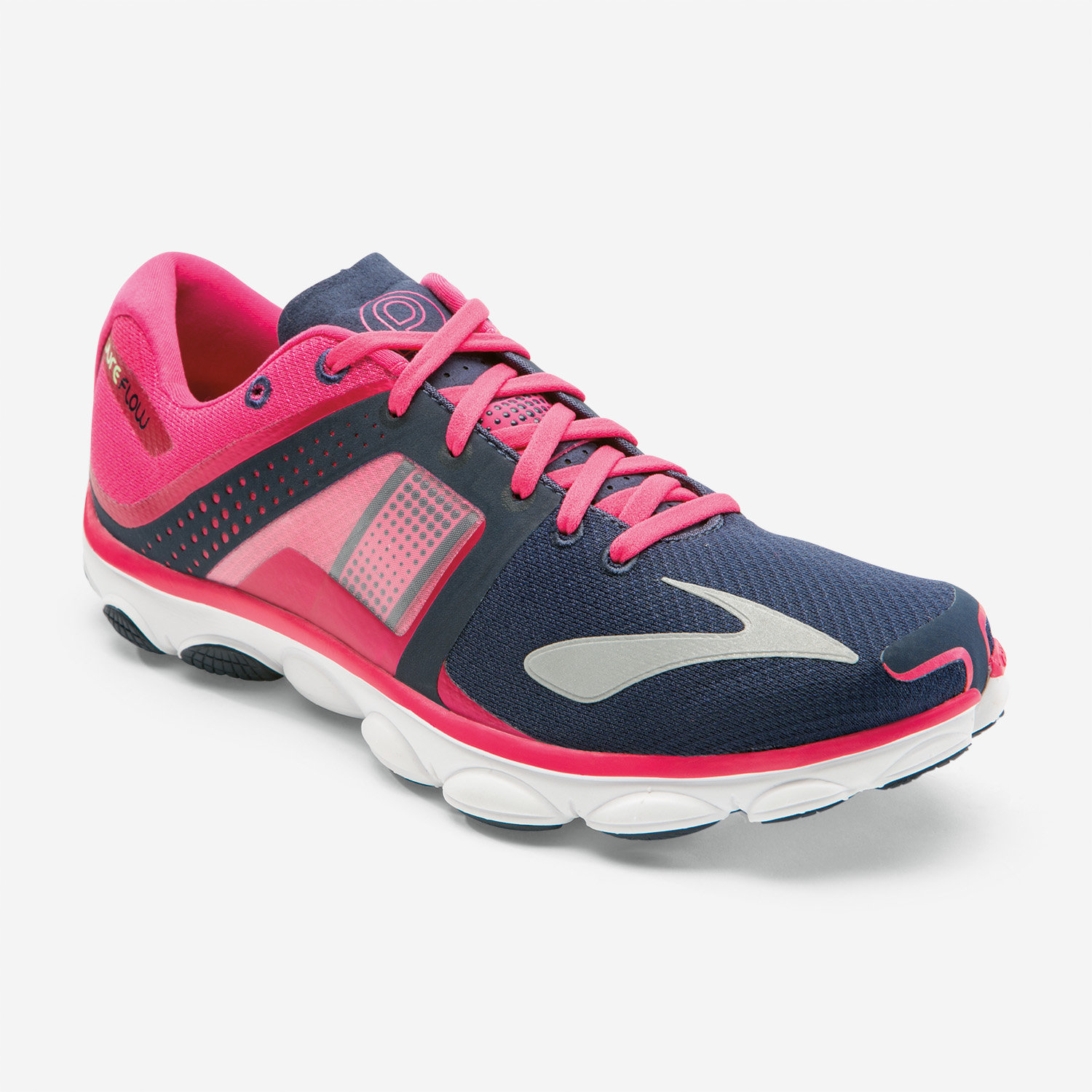 Brooks Lady Pureflow 4 in Dunkelblau. Pink