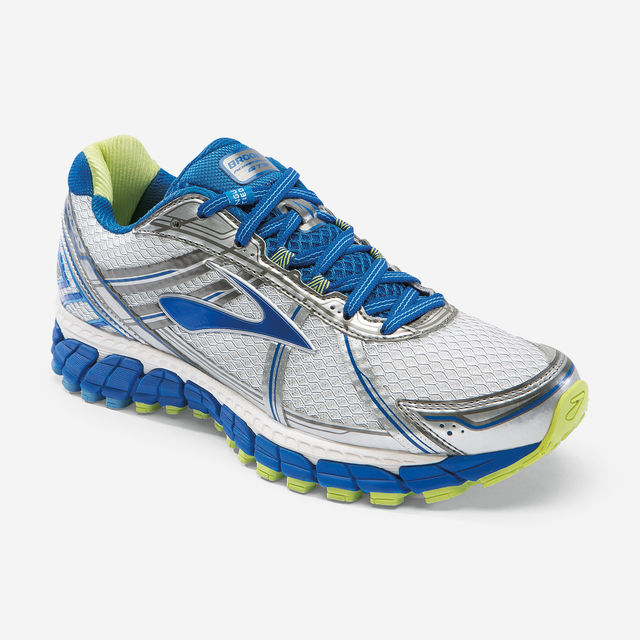 Brooks Lady Adrenaline GTS 15 B in Weiß, Blau, Grün