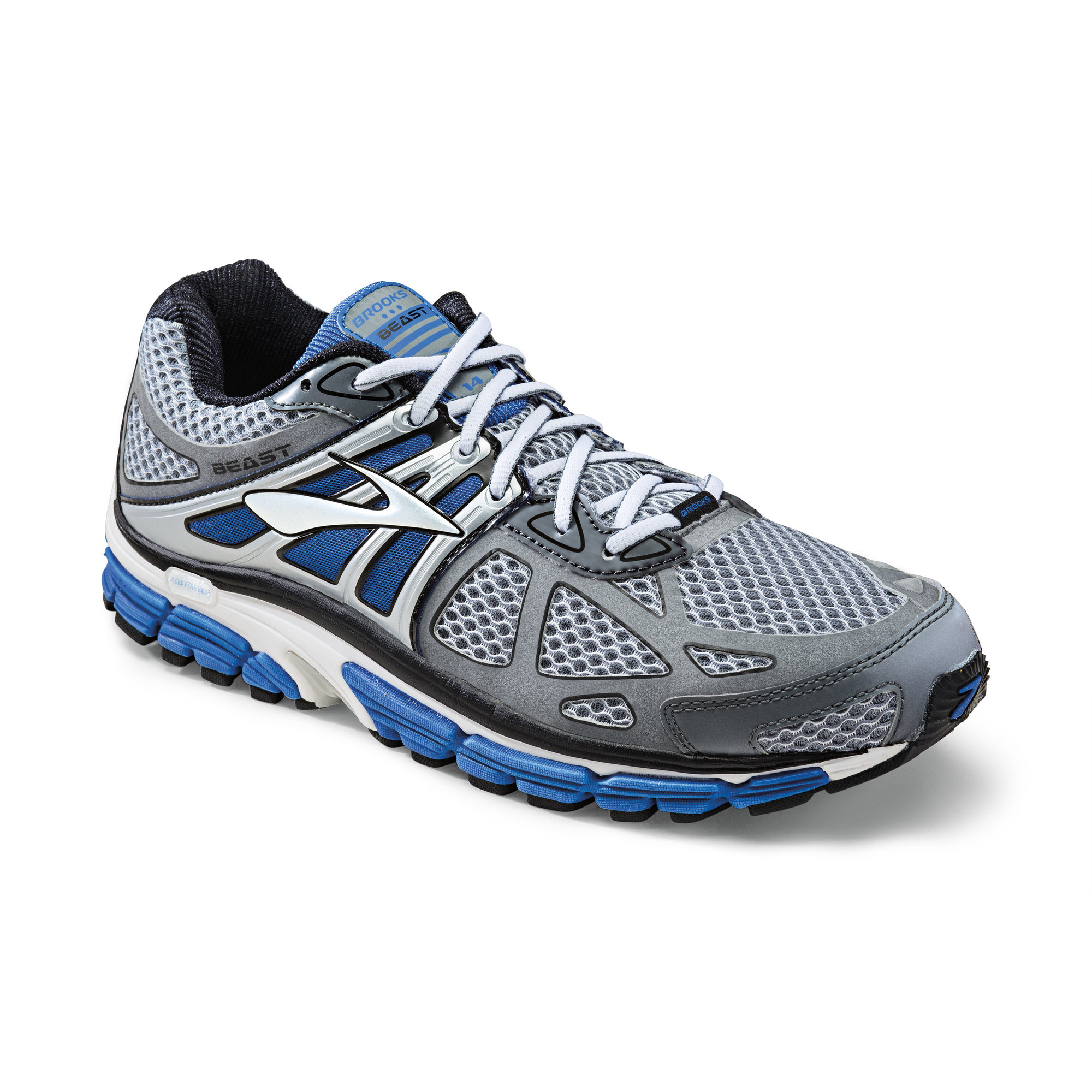 Brooks Beast 14 in Grau, Blau