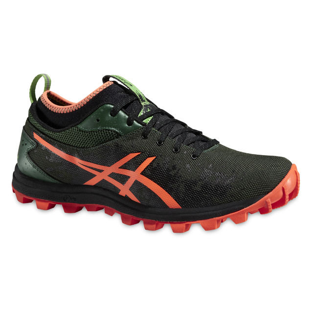 Asics Gel Fuji Runnegade in Darkgreen/Orange/Black