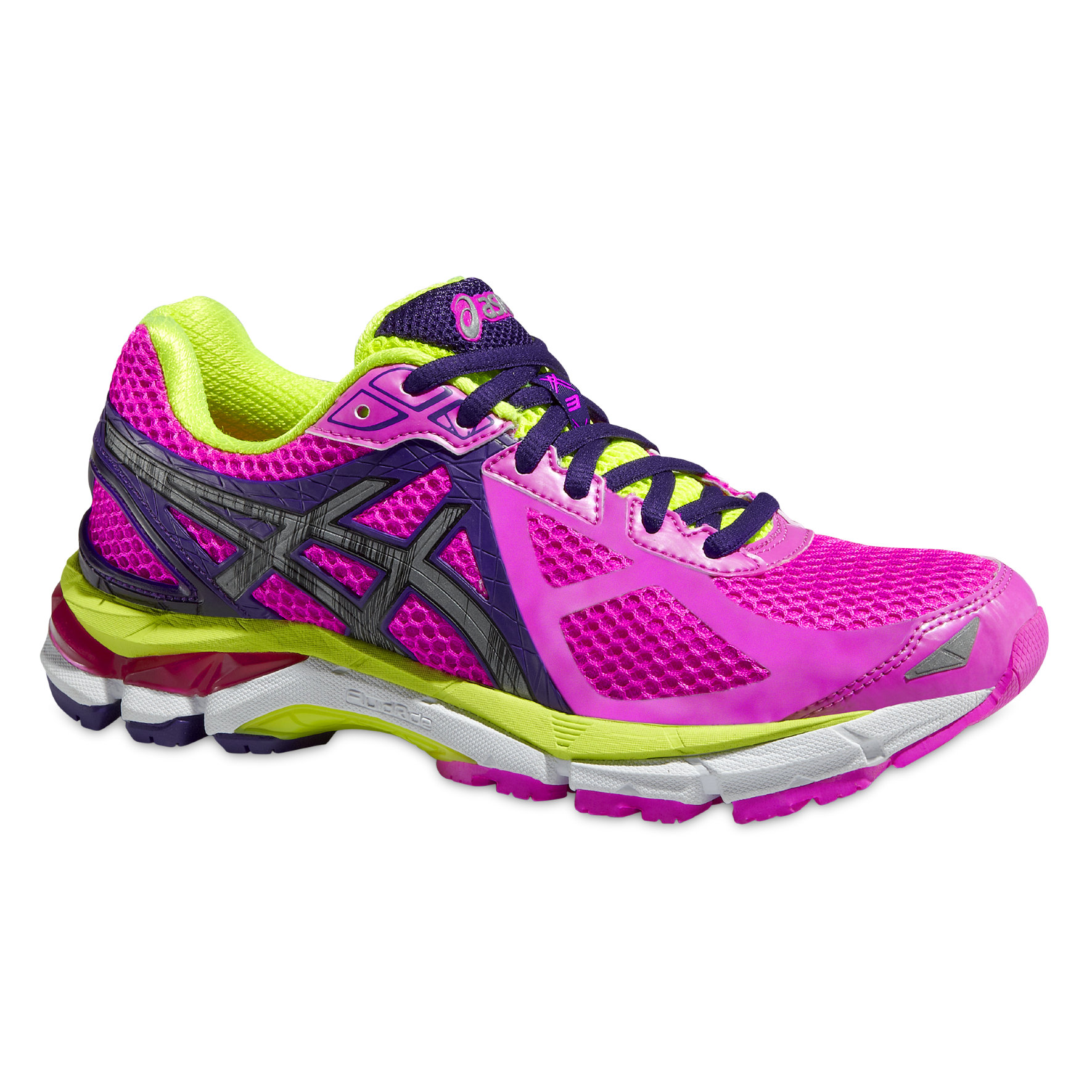 Asics Lady GT 2000 3 LS in Pink/Gelb