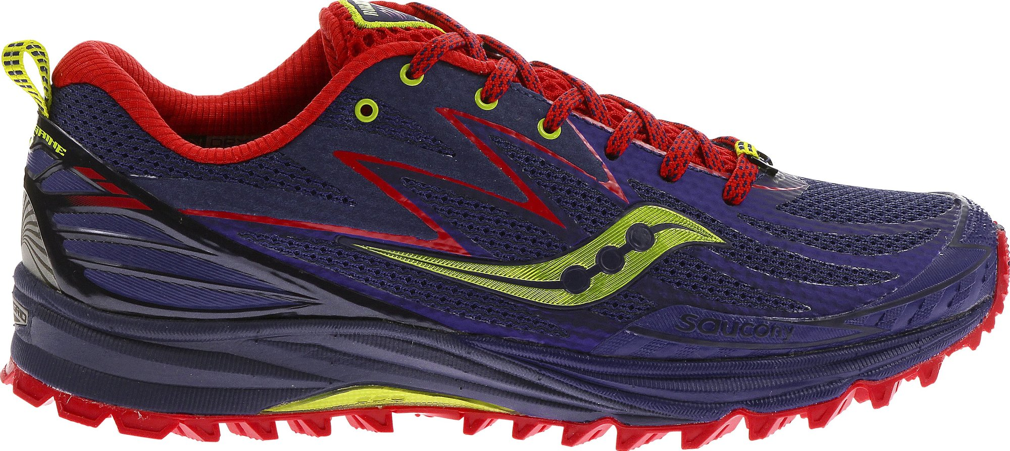 Saucony Lady Peregrine 5 in Purple/Red/Green