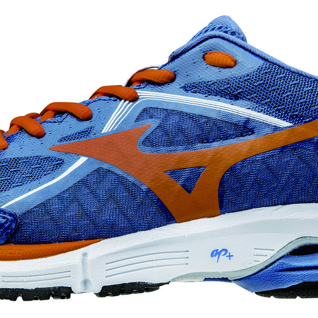 Mizuno Wave Ultima 6 in Blau, Orange