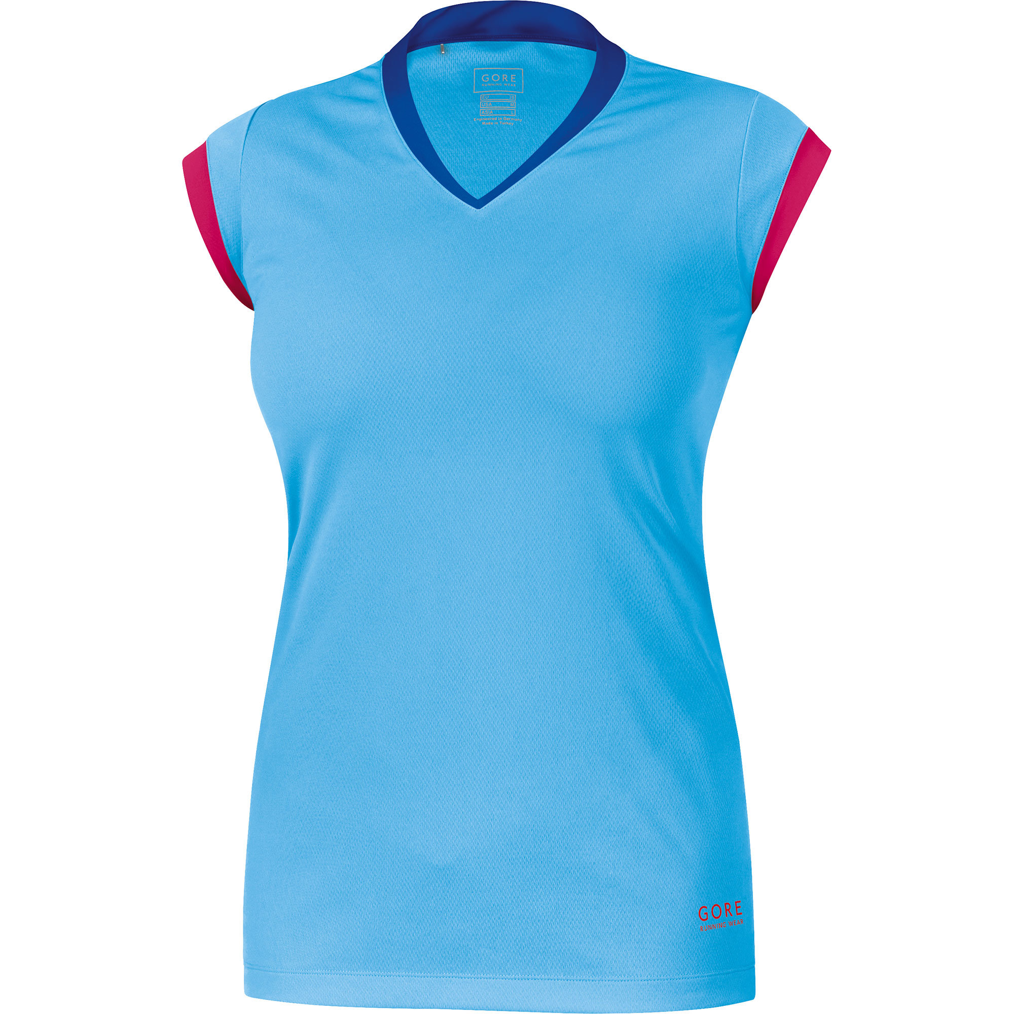 Gore Sunlight 4.0 Lady Shirt in Hellblau, Rot