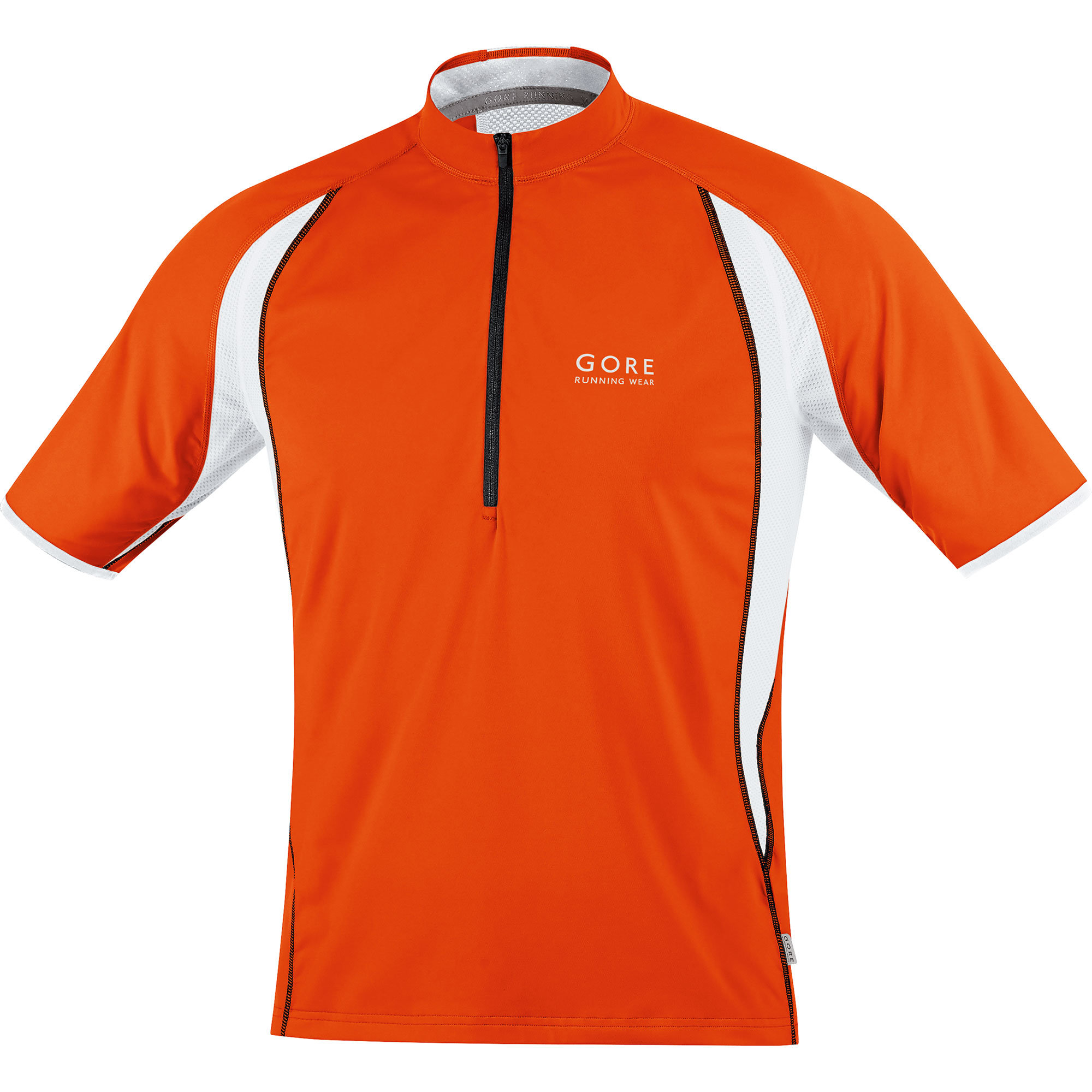 Gore Air Zip Shirt in Orange, Weiß