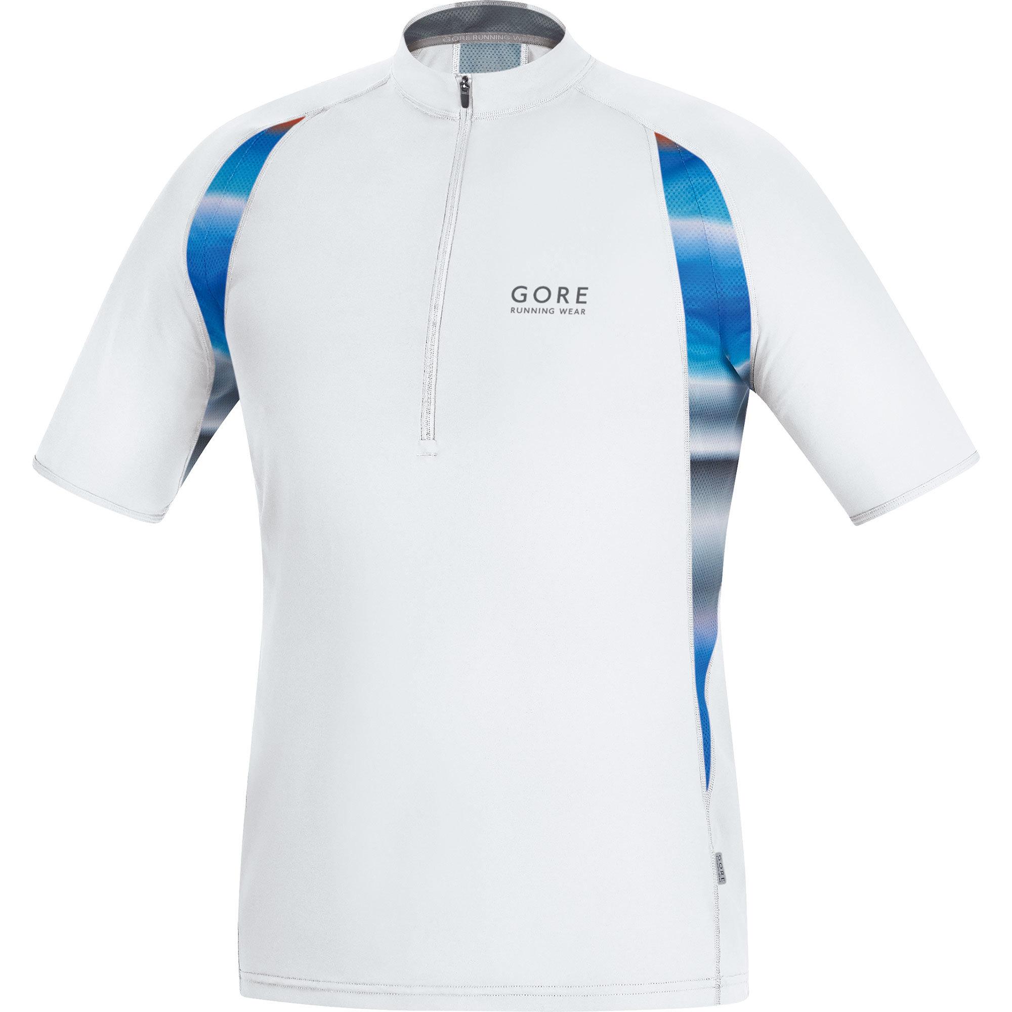 Gore Air Print Zip Shirt in Weiß