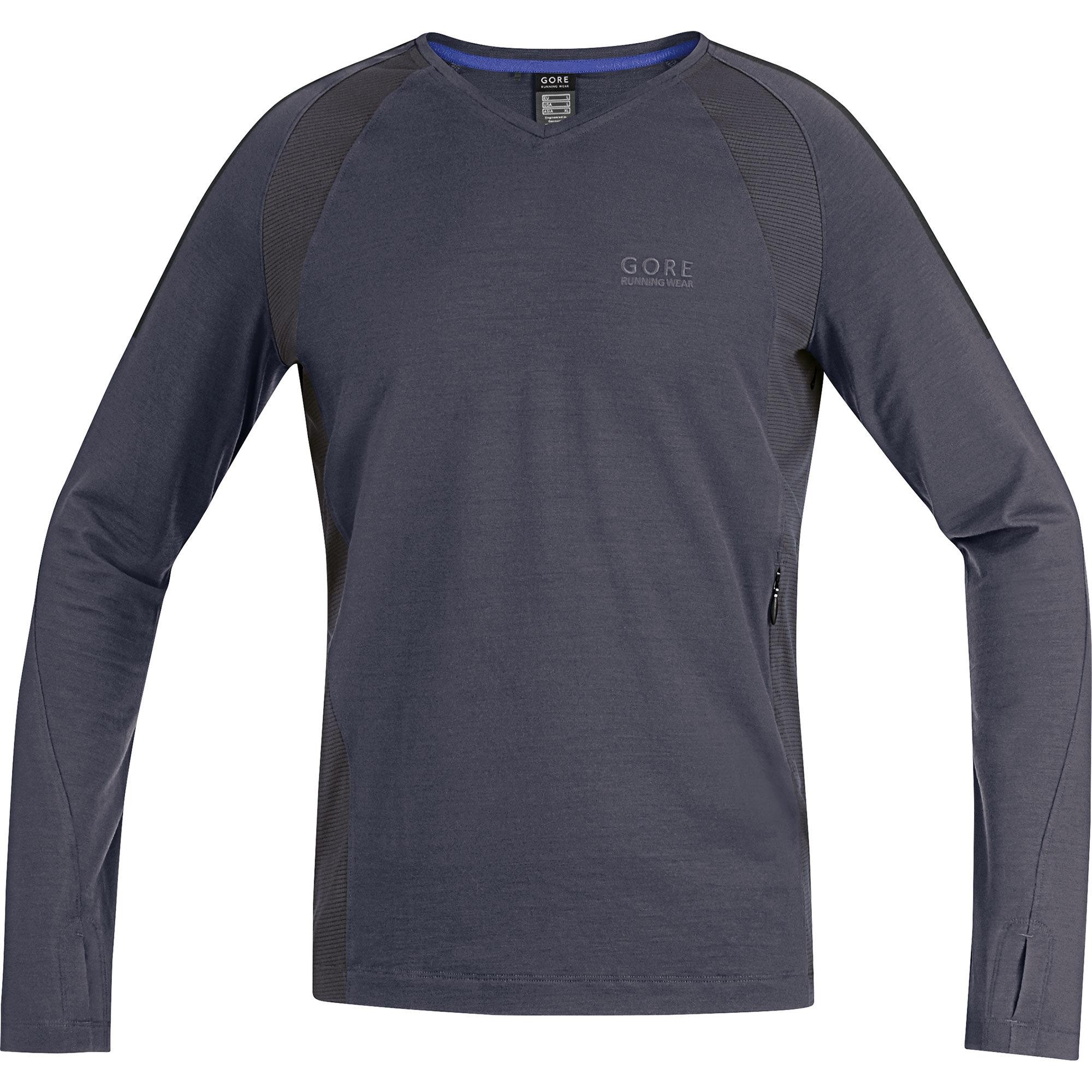 Gore Urban Run 2.0 Shirt long in Graphit Grey