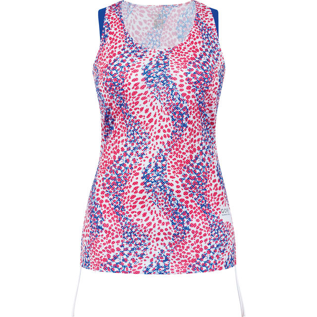 Gore Sunlight Print Lady Singlet in Rot Weiss Blau