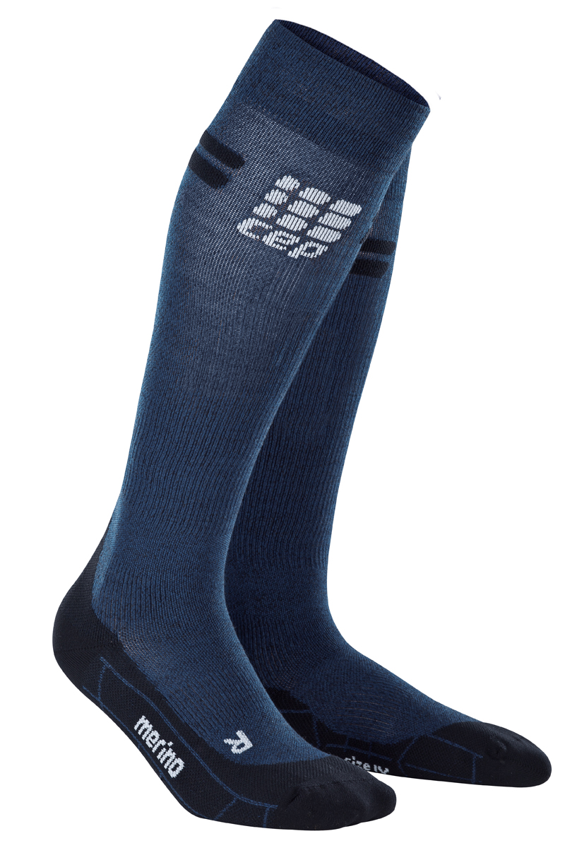 cep Women´s Run Merino Sock in Navy Black