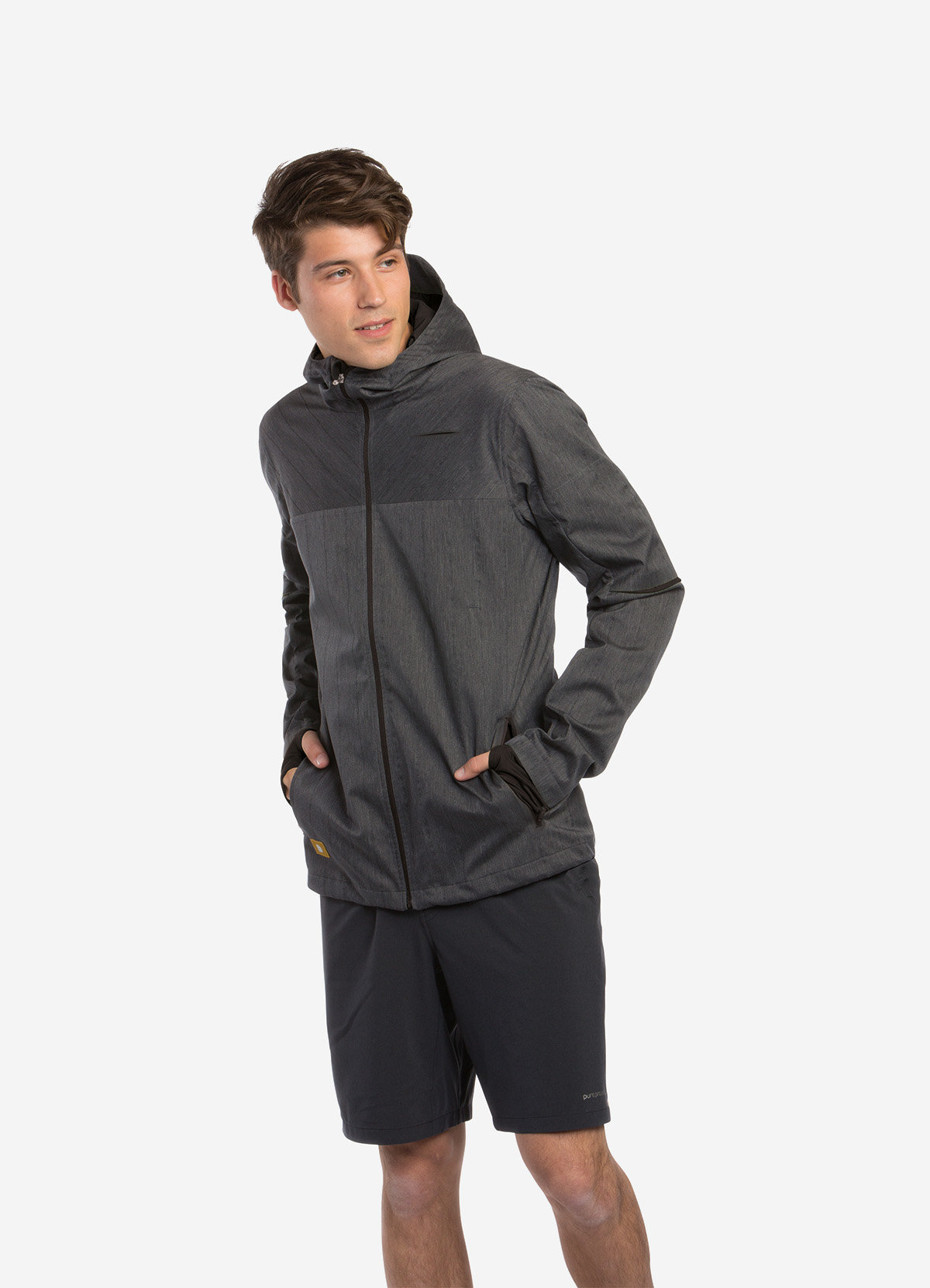Brooks Thermal Jacket PP in Anthrazit/Grau