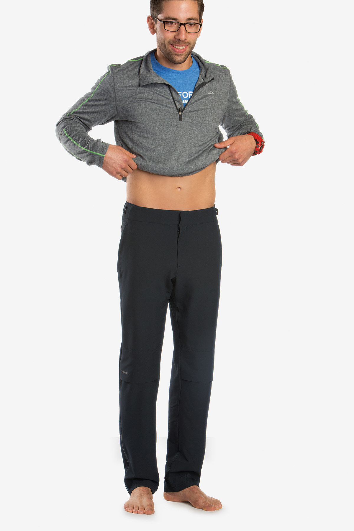 Brooks Thermal Pant in Schwarz