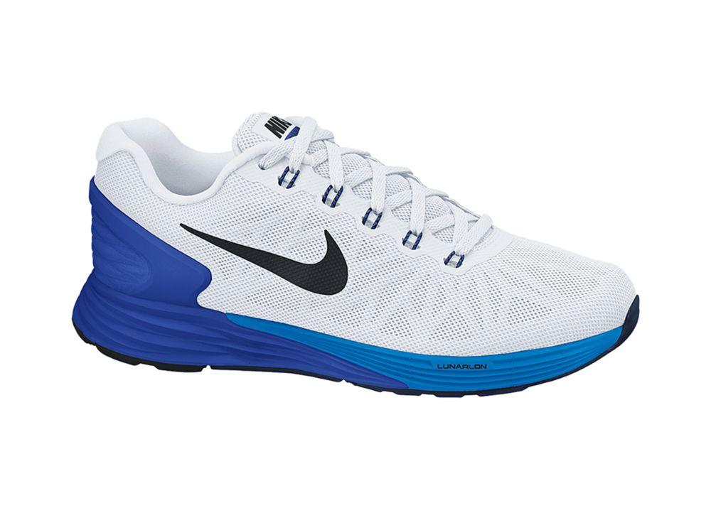 Nike Lunarglide 6 in Weiß, Blau