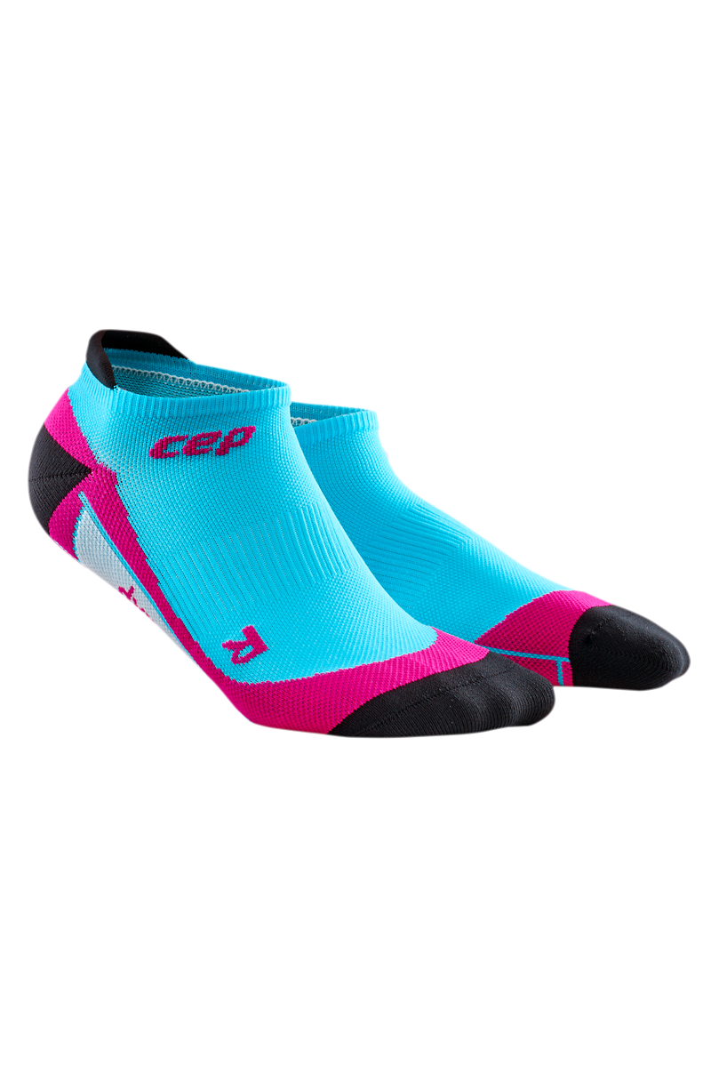 cep Women's No Show Socks in Blau Pink