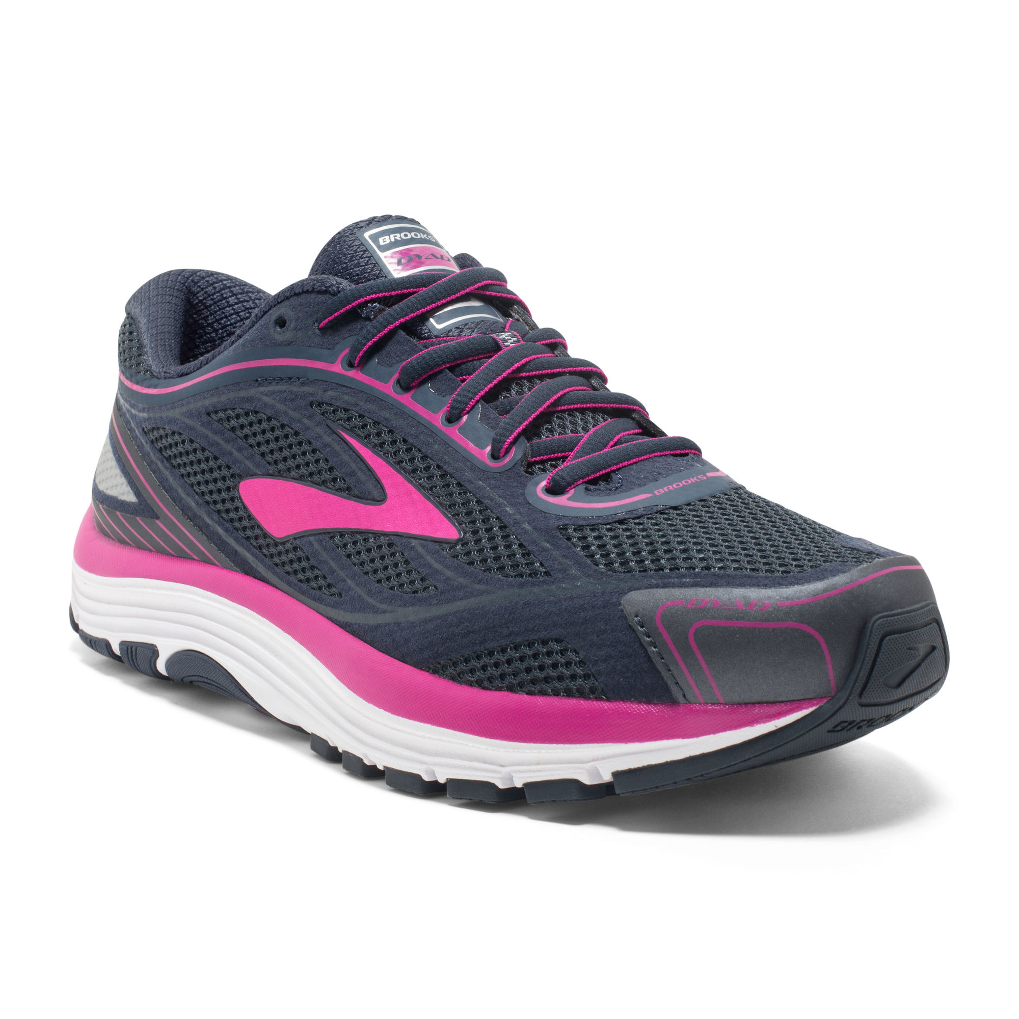 Brooks Lady Dyad 9 in Grau Pink