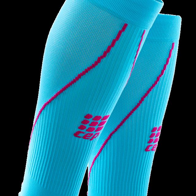 cep Women's Calf Sleeves blue/pink in Blau Pink