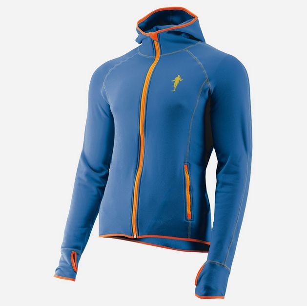 Thonimara Lauf-Fleece Hoodie in Blau Orange