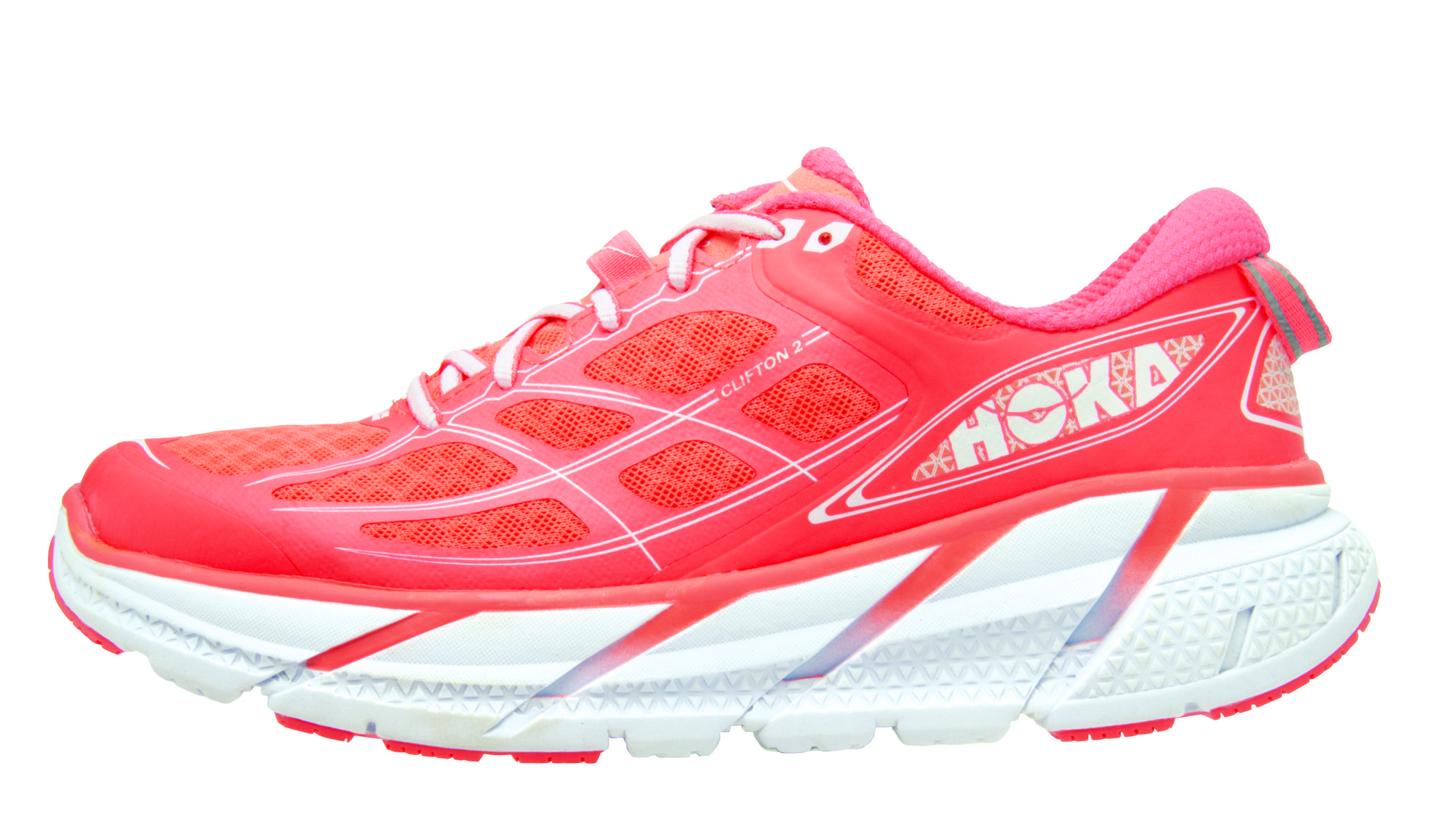 Hoka One One Clifton 2 Lady in Neon Coral/White