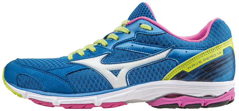 Mizuno Lady Wave Aero 14 in Blau